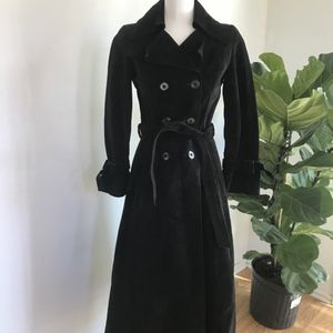 Jackets & Blazers - Vintage Black Suede Trench style Coat